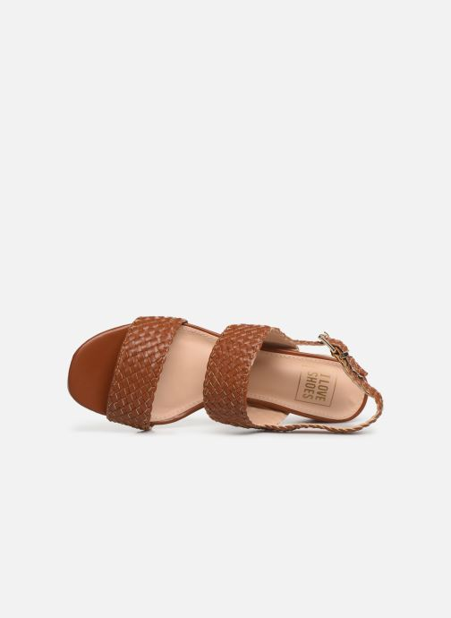 Sandals I Love Shoes LOUKA Brown view from the left