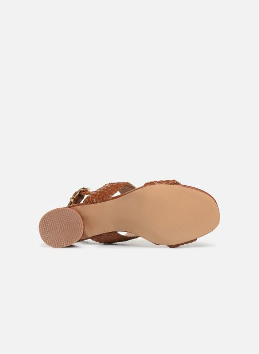 Sandals I Love Shoes LOUKA Brown view from above