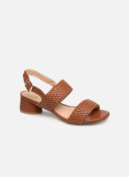 Sandals I Love Shoes LOUKA Brown detailed view/ Pair view