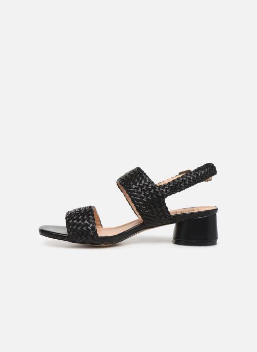 Sandales et nu-pieds I Love Shoes LOUKA Noir vue face