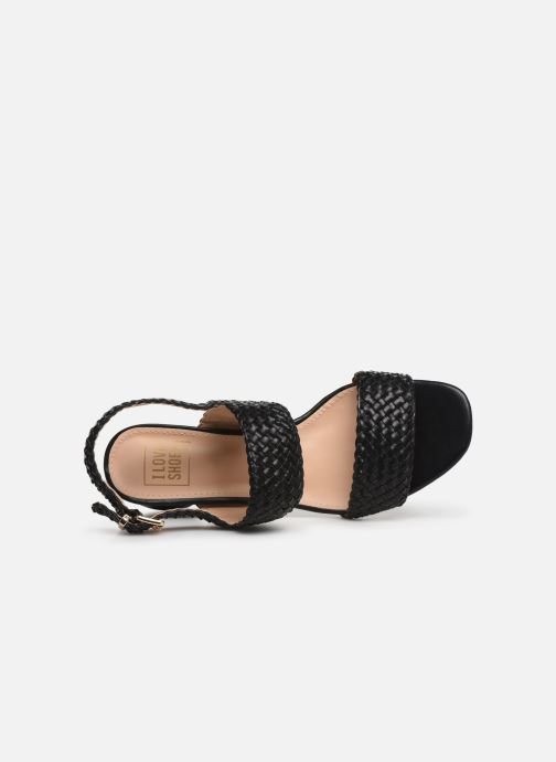 Sandales et nu-pieds I Love Shoes LOUKA Noir vue gauche