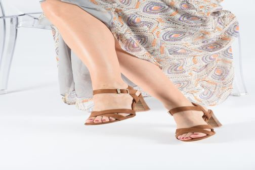 Sandals I Love Shoes LOTTY Brown view from underneath / model view