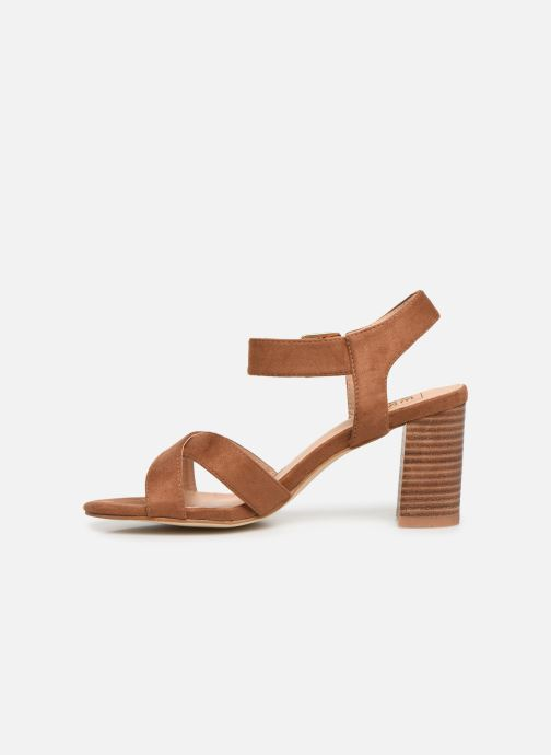Sandals I Love Shoes LOTTY Brown front view