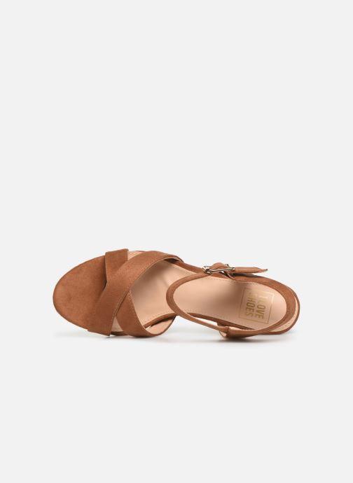 Sandales et nu-pieds I Love Shoes LOTTY Marron vue gauche
