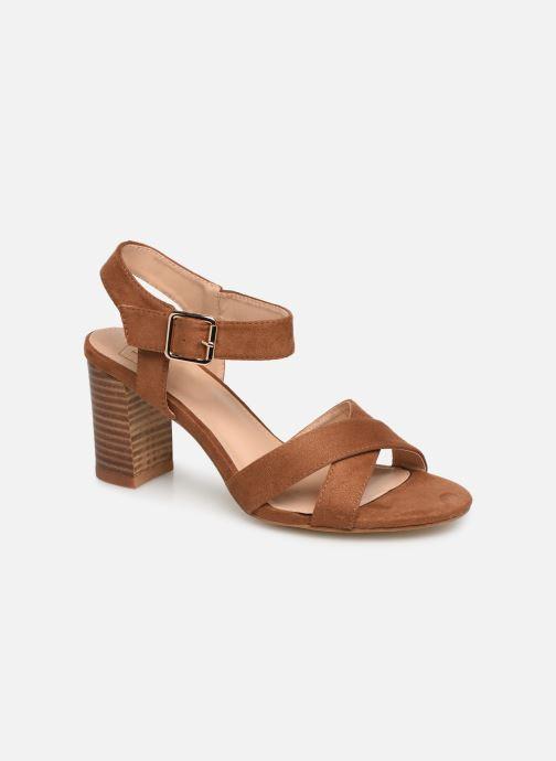 Sandales et nu-pieds I Love Shoes LOTTY Marron vue détail/paire