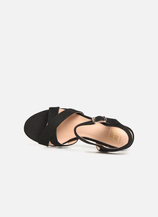 Sandales et nu-pieds I Love Shoes LOTTY Noir vue gauche