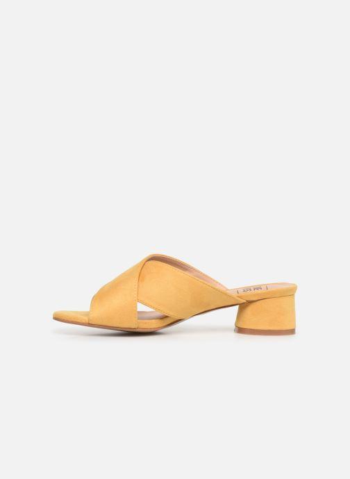 Zuecos I Love Shoes LONACI Amarillo vista de frente