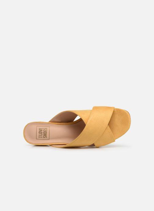 Zuecos I Love Shoes LONACI Amarillo vista lateral izquierda