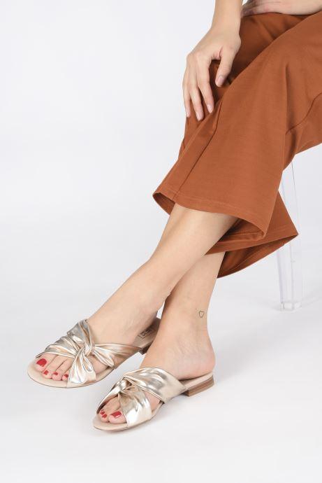 Mules et sabots I Love Shoes LINEA Or et bronze vue bas / vue portée sac
