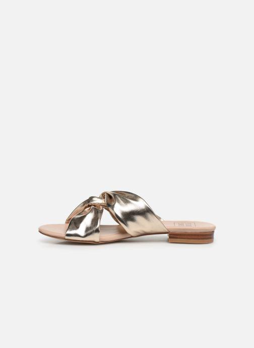Mules et sabots I Love Shoes LINEA Or et bronze vue face