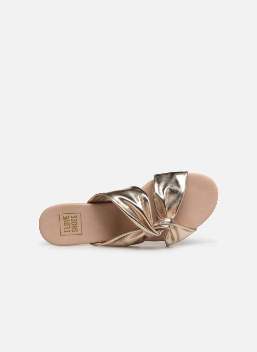 Mules et sabots I Love Shoes LINEA Or et bronze vue gauche