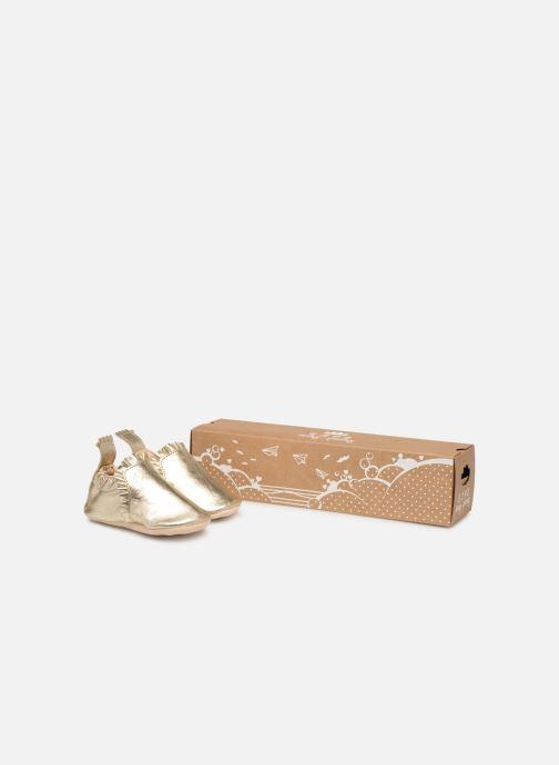 Chaussons Easy Peasy Blumoo Froufrou Or et bronze vue détail/paire