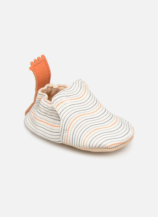 Chaussons Easy Peasy Blumoo Wave Blanc vue portées chaussures