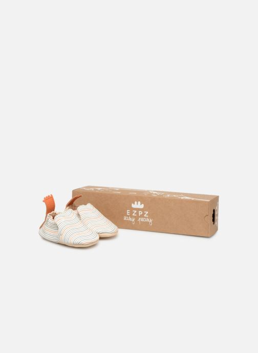 Chaussons Easy Peasy Blumoo Wave Blanc vue détail/paire