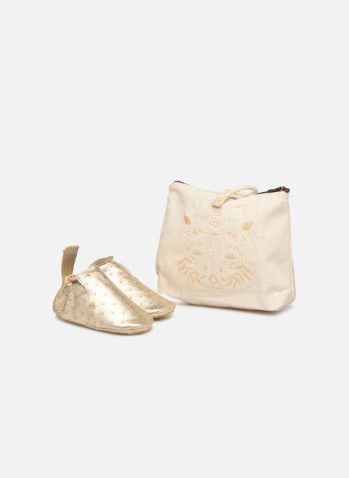 Hjemmesko Easy Peasy Blublu Palmette Guld og bronze detaljeret billede af skoene