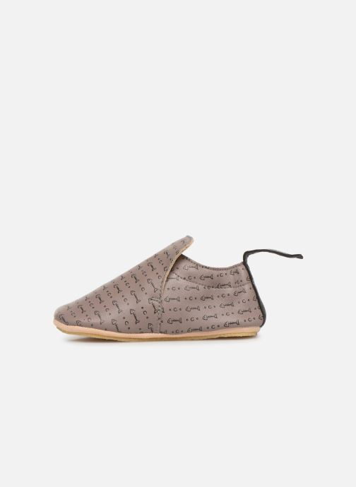 Chaussons Easy Peasy Blublu Pesce Marron vue face
