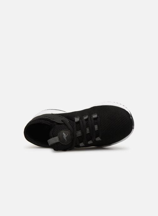 Baskets Kangaroos Kadee Sock Noir vue gauche