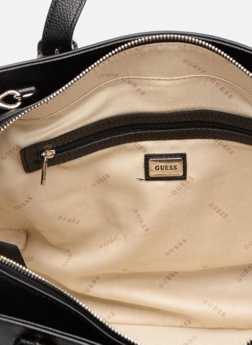 Handtassen Guess EILEEN SATCHEL Zwart achterkant