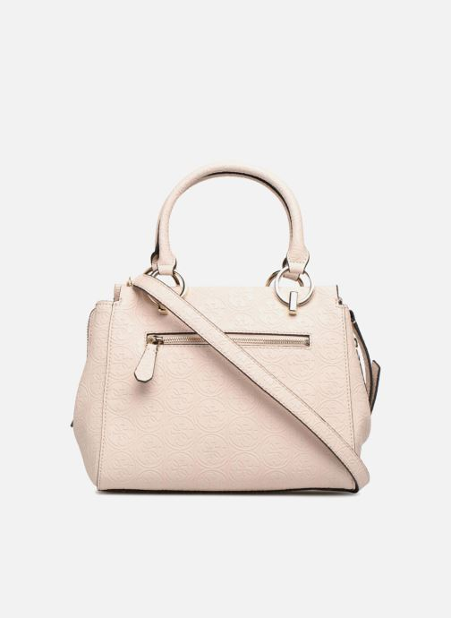 Sacs à main Guess HERITAGE GIRLFRIEND SATCHEL Rose vue face