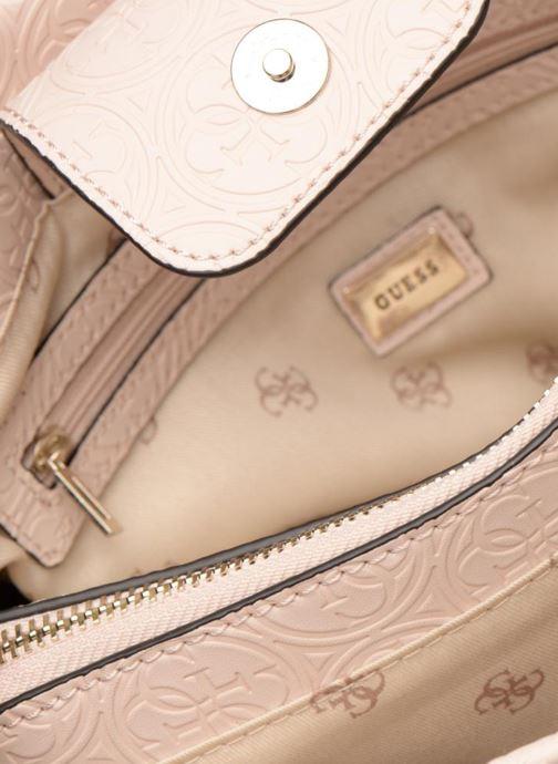 Handtassen Guess HERITAGE GIRLFRIEND SATCHEL Roze achterkant
