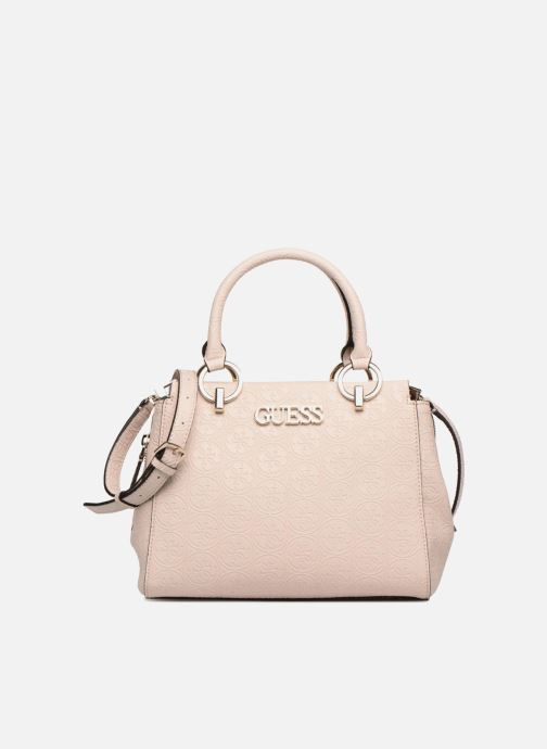 Sacs à main Guess HERITAGE GIRLFRIEND SATCHEL Rose vue détail/paire