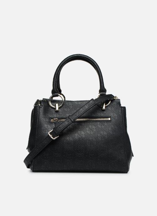 Handväskor Guess HERITAGE GIRLFRIEND SATCHEL Svart bild från framsidan