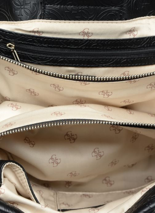 Handväskor Guess HERITAGE GIRLFRIEND SATCHEL Svart bild från baksidan