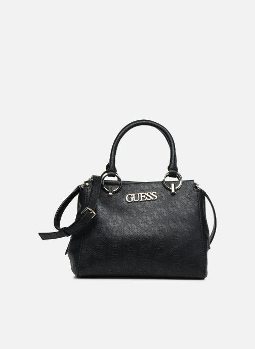 Handväskor Guess HERITAGE GIRLFRIEND SATCHEL Svart detaljerad bild på paret