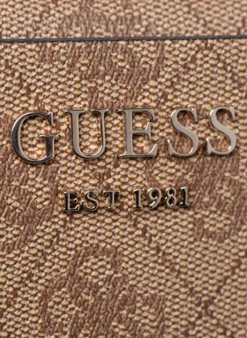 Petite Maroquinerie Guess KATHRYN LARGE ZIP AROUND Marron vue gauche