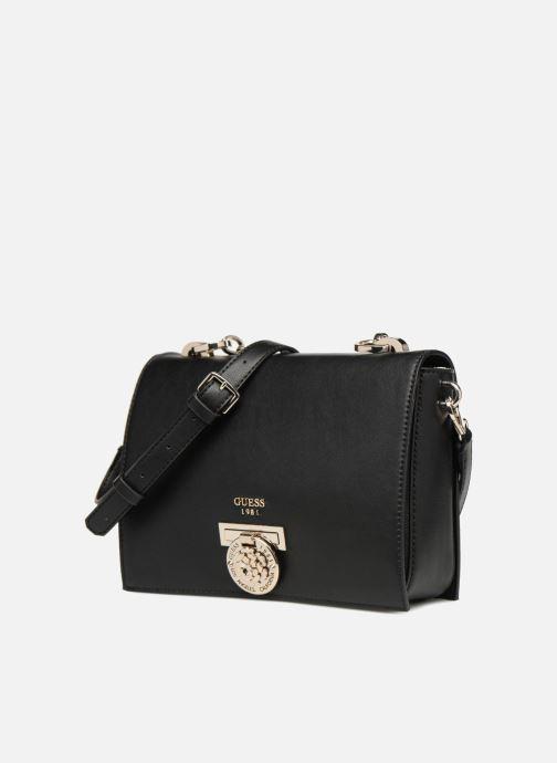 Sacs à main Guess MARLENE SHOULDER BAG Noir vue portées chaussures