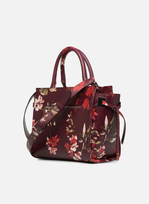 Handbags Guess OPEN ROAD SATCHEL Purple view from the right