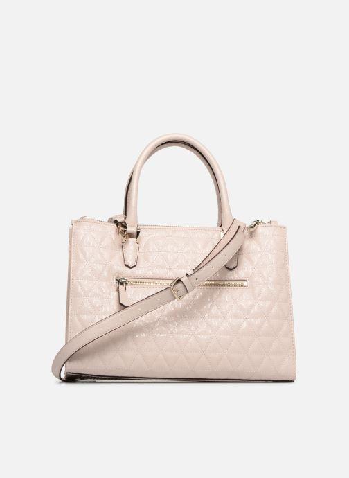 Håndtasker Guess TABBI STATUS SATCHEL Pink se forfra