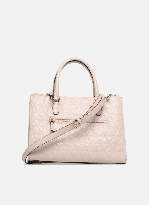 Sacs à main Guess TABBI STATUS SATCHEL Rose vue face