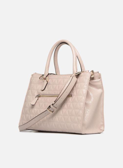 Håndtasker Guess TABBI STATUS SATCHEL Pink Se fra højre