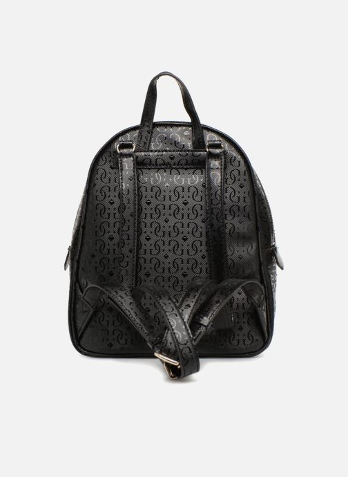 Mochilas Guess TABBI MINI BACKPACK SATCHEL Negro vista de frente