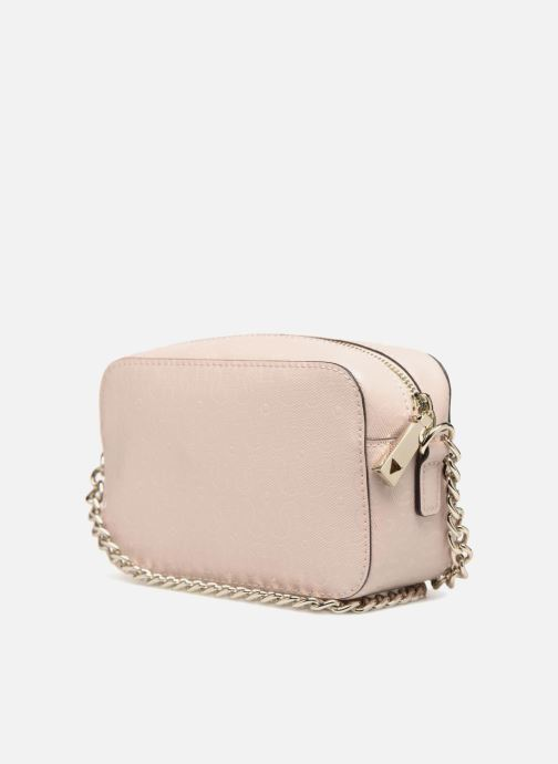 Bolsos Clutch Guess TABBI MINI CROSSBODY Rosa vista lateral derecha