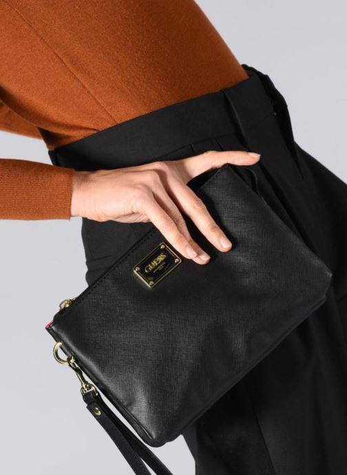 Sacs pochettes Guess MARVELLOUS CROSSBODY Noir vue bas / vue portée sac