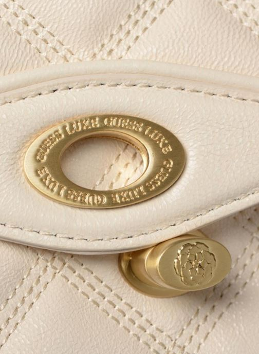 Guess GUESS LUXE SANDY LEATHER CROSSBODY FLAP (Bianco