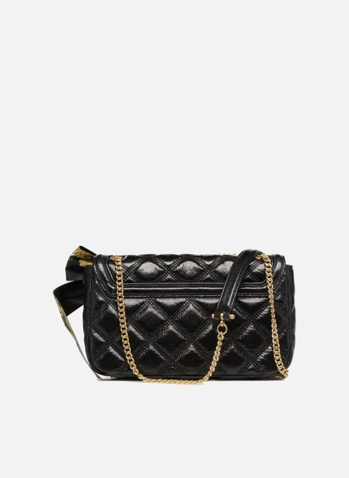Sacs à main Guess GUESS LUXE SANDY LEATHER CROSSBODY FLAP Noir vue face