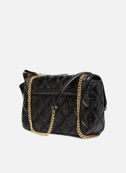 Sacs à main Guess GUESS LUXE SANDY LEATHER CROSSBODY FLAP Noir vue droite