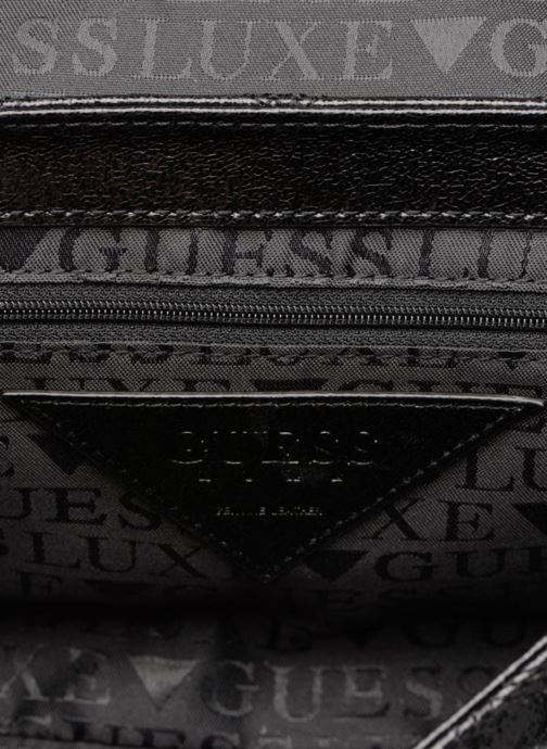 Sacs à main Guess GUESS LUXE SANDY LEATHER CROSSBODY FLAP Noir vue derrière