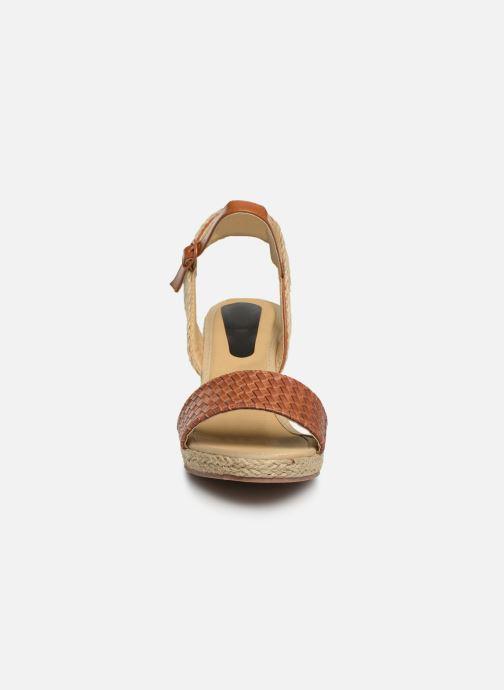 Espadrilles I Love Shoes Kitrina Marron vue portées chaussures