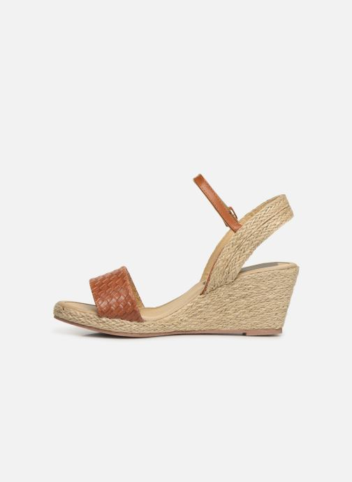 Espadrilles I Love Shoes Kitrina Marron vue face