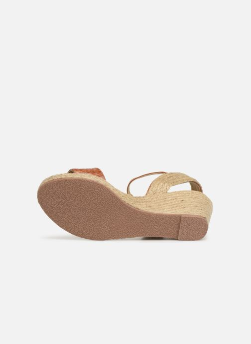 Espadrilles I Love Shoes Kitrina Marron vue haut