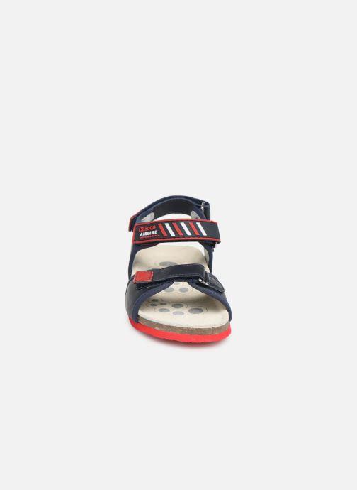 Sandales et nu-pieds Chicco Hemilio Bleu vue portées chaussures