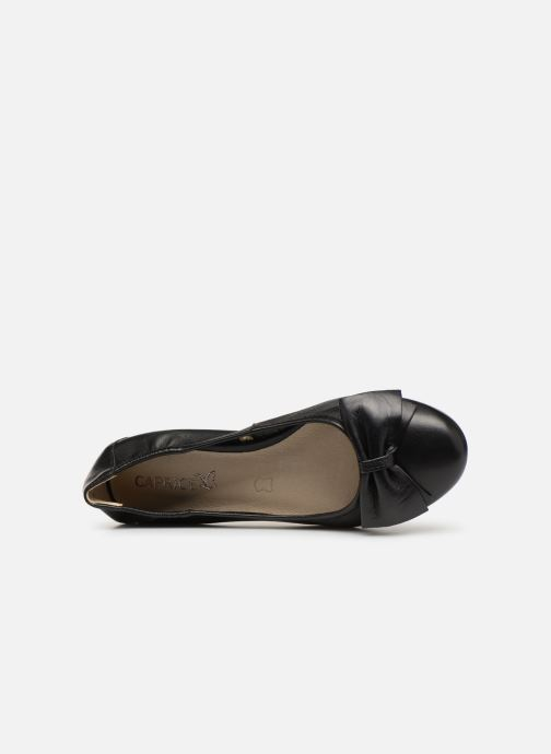 Ballet pumps Caprice Lorel Black view from the left