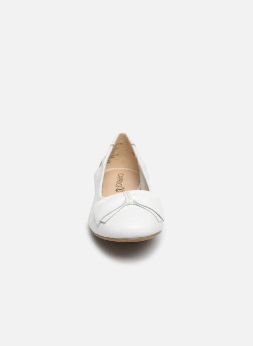 Ballerines Caprice Lorel Blanc vue portées chaussures