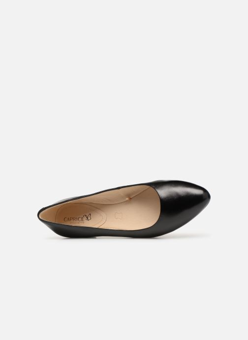 Ballet pumps Caprice Calaba Black view from the left