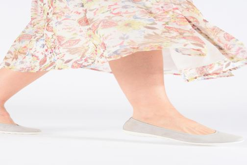 Ballet pumps Caprice Gina Blue view from underneath / model view