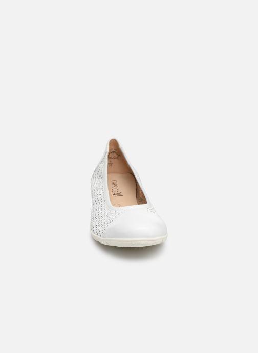 Ballerines Caprice Gilde Blanc vue portées chaussures